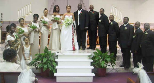 African American Wedding Party