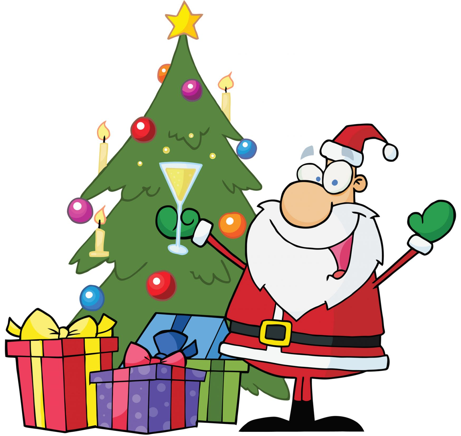 Animated christmas tree clipart pictures 1