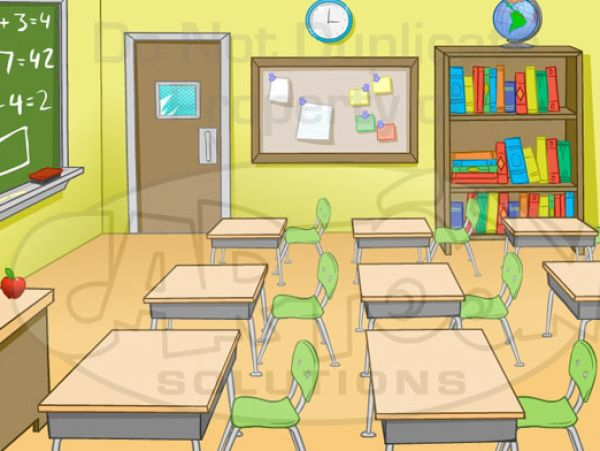 Animated picture of a classroom pictures 4