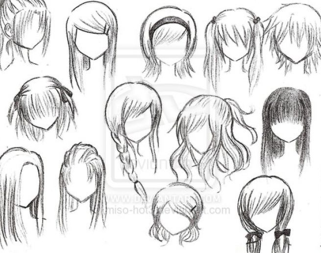anime girl hairstyle. Anime girl hairstyles by
