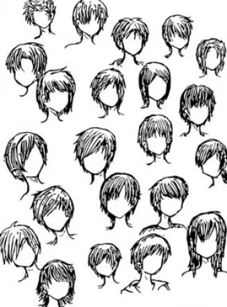 Anime Boy Hairstyles Drawings