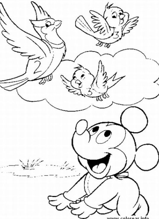 disnet princesses babies coloring pages - photo#12
