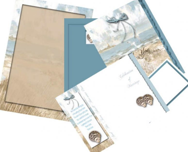 Beach wedding invitations kits pictures 1