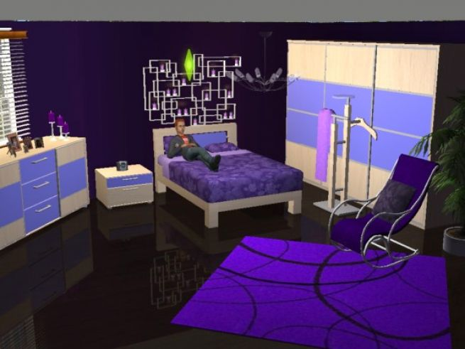 Black And Purple Bedrooms Pictures 4