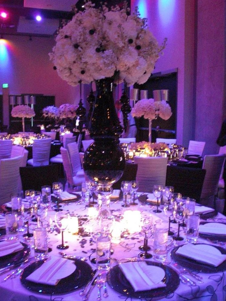 Purple Wedding Reception Centerpieces Quotes