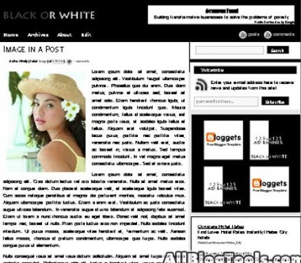 black and white blogger templates The biggest source for all blogger