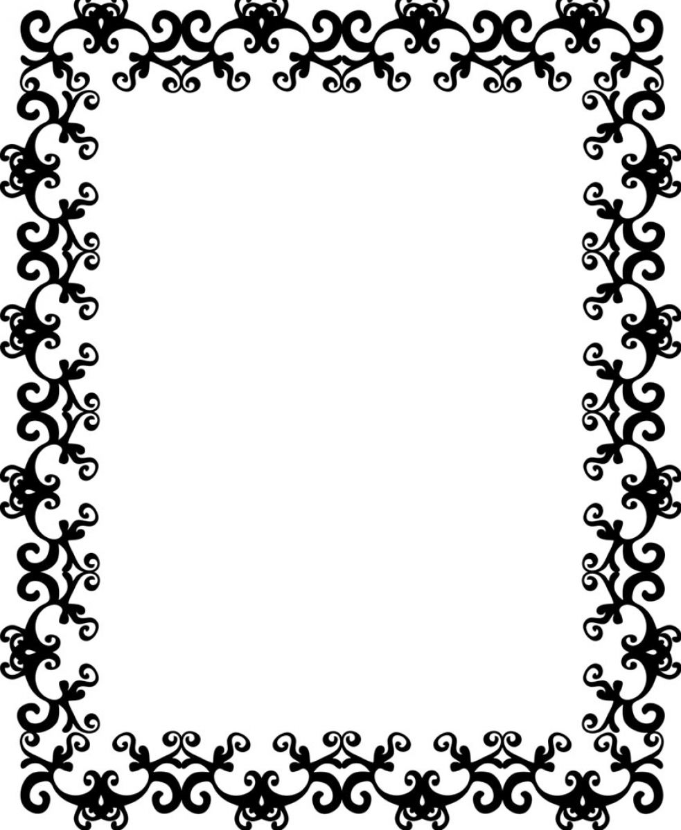 Black and white pattern border pictures 2
