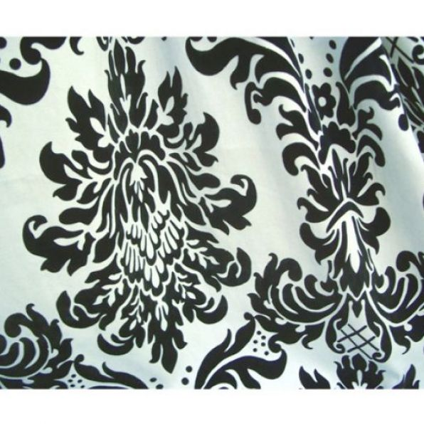 Black and white pattern curtains pictures 4