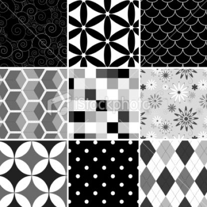 Three Famous Patterns of Black and White Ceramic Tile | New Home