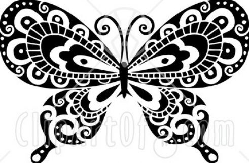 Black and white Decorative pattern free vector 01 - Vector Floral