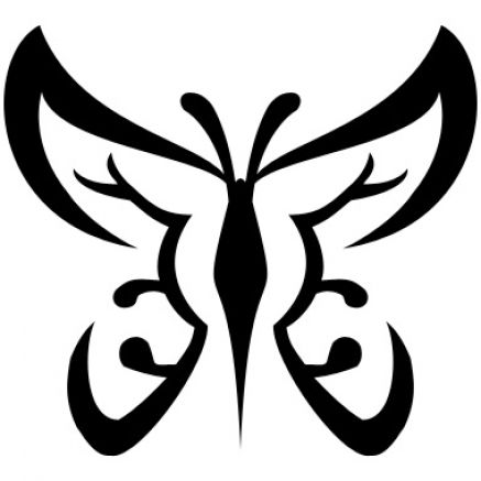black and white butterfly with swirls and patterns on its wings  it is