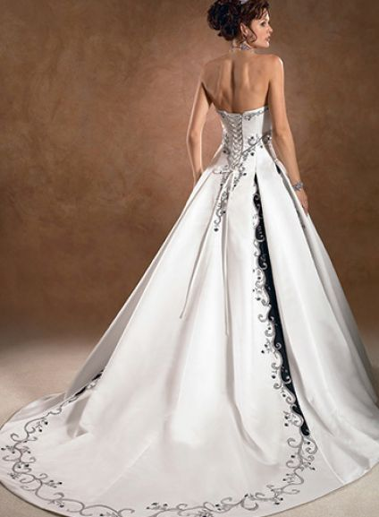 White wedding bridesmaid dresses for Black and white dresses for wedding