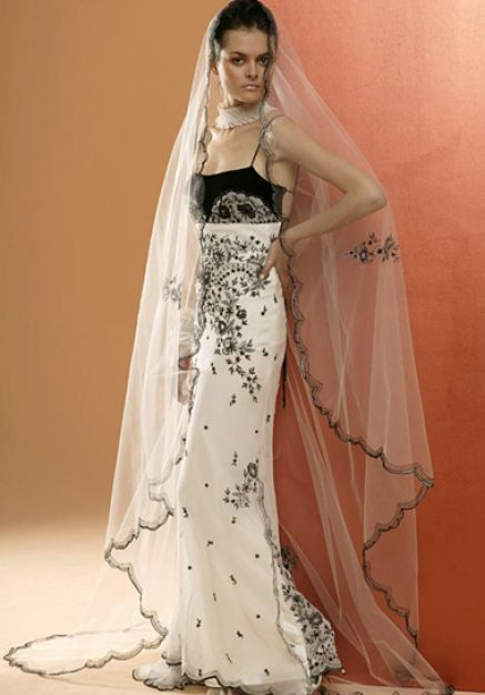 Black And White Wedding Dresses For Sale Fashion In The