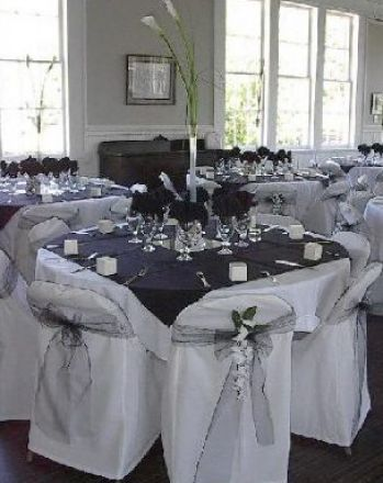 Black and white wedding reception pictures 1