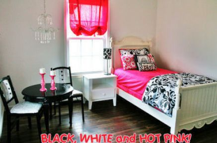 Pink Bedroom Ideas on Black Pink And White Bedroom Ideas Pictures 1