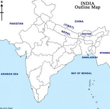 Physical Map of India, India Physical Map