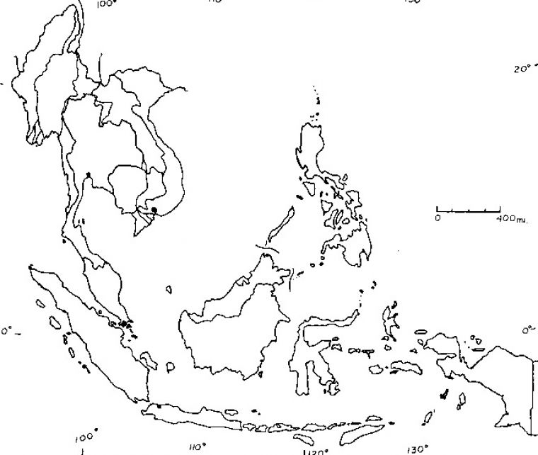 south east asia map outline. South east asia blank map free