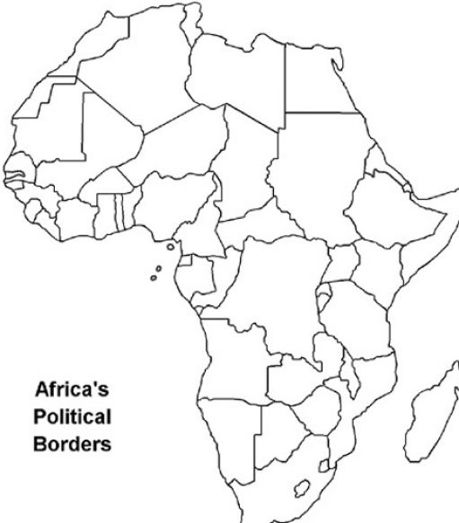 Pictures of Blank Eastern Africa Map - #rock-cafe