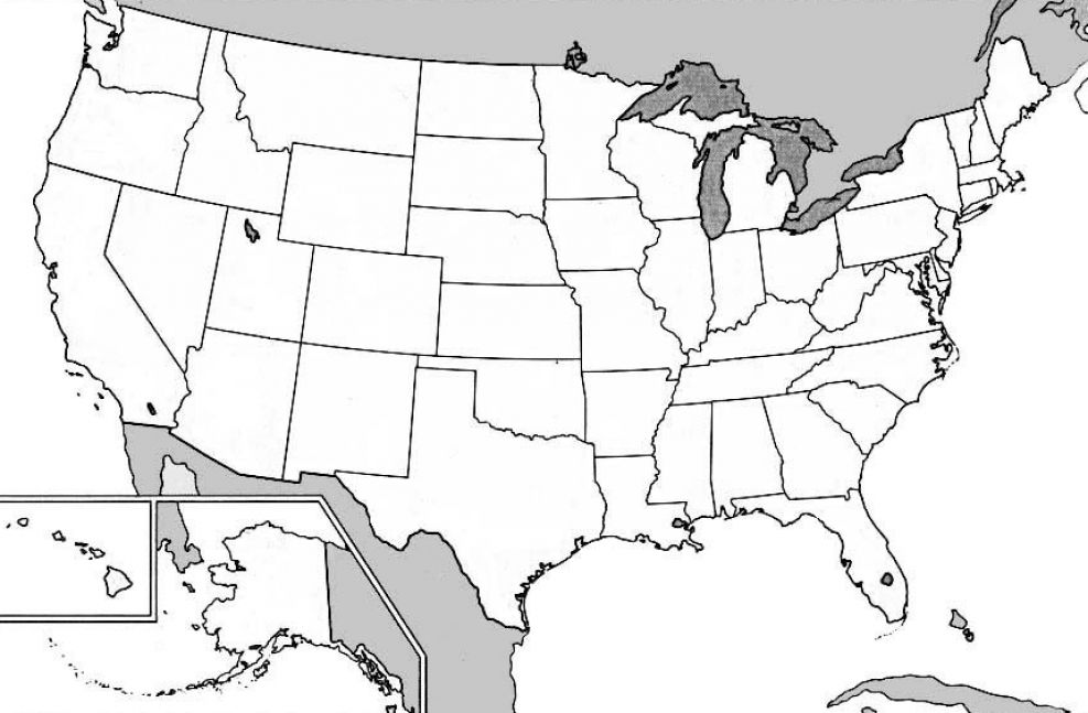 Blank map of the united states printable for kids pictures 2
