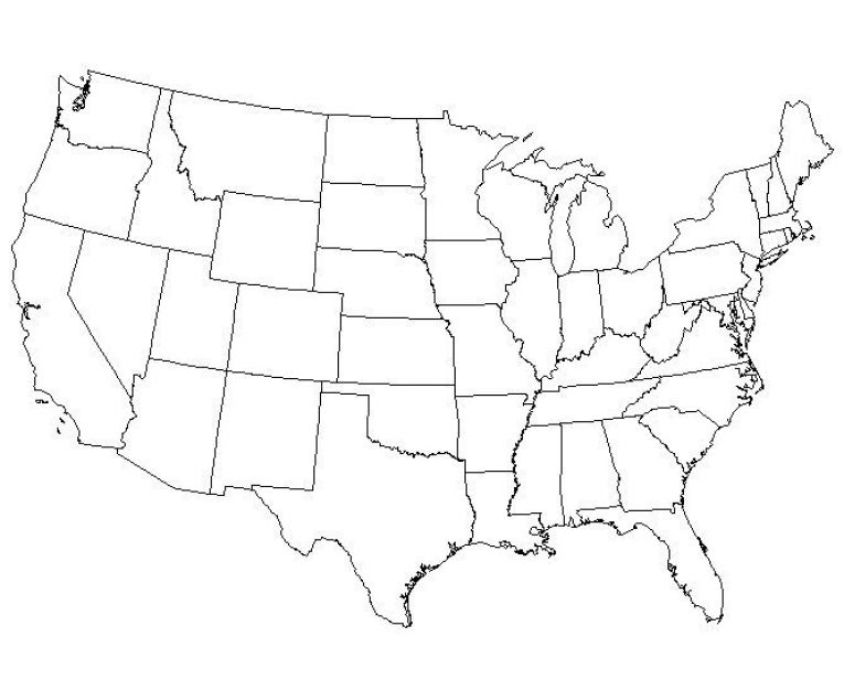 It is a photo of Satisfactory Blank Map of the United States Printable