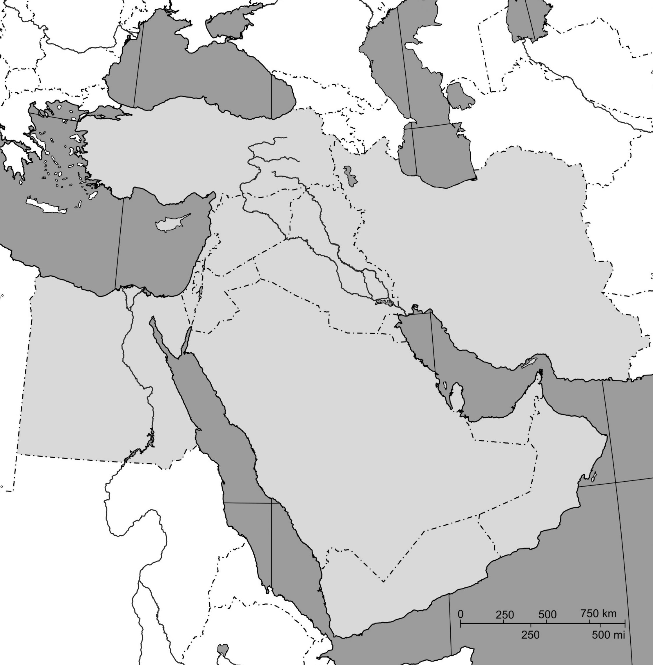 Pin Blank Political Map Of Southwest Asia Pictures 1 on Pinterest