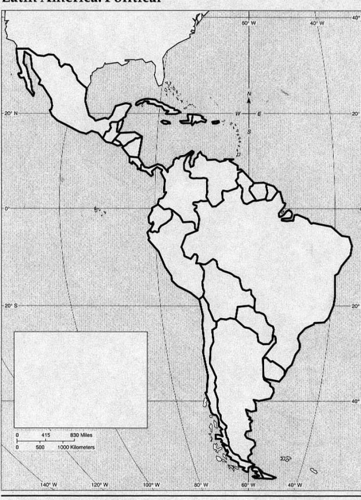 Blank South America Political...