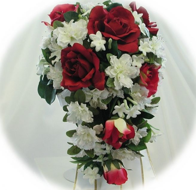 Red And White Wedding Flowers Bridal Bouquets Red And White Pictures 3