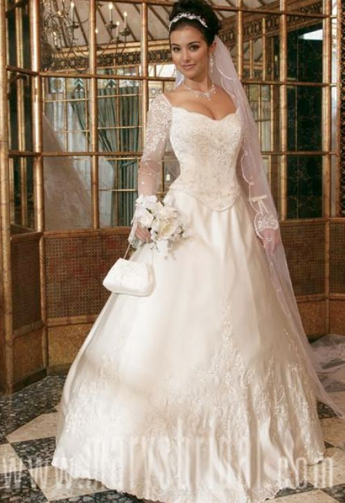 wedding dresses with sleeves plus size. Fashion designer – plus size