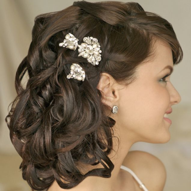 wedding hairstyles short medium hair. Bridal Hairstyles for Long, Medium and Short Hair.