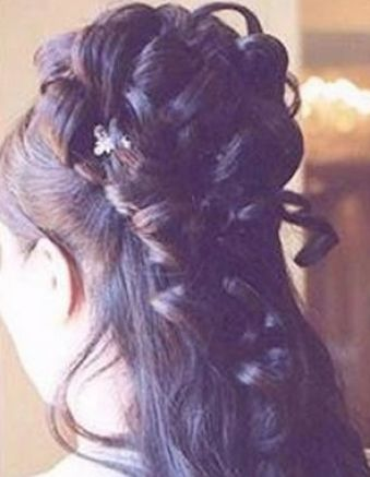 Bridal hairstyles half up half down with veil pictures 4