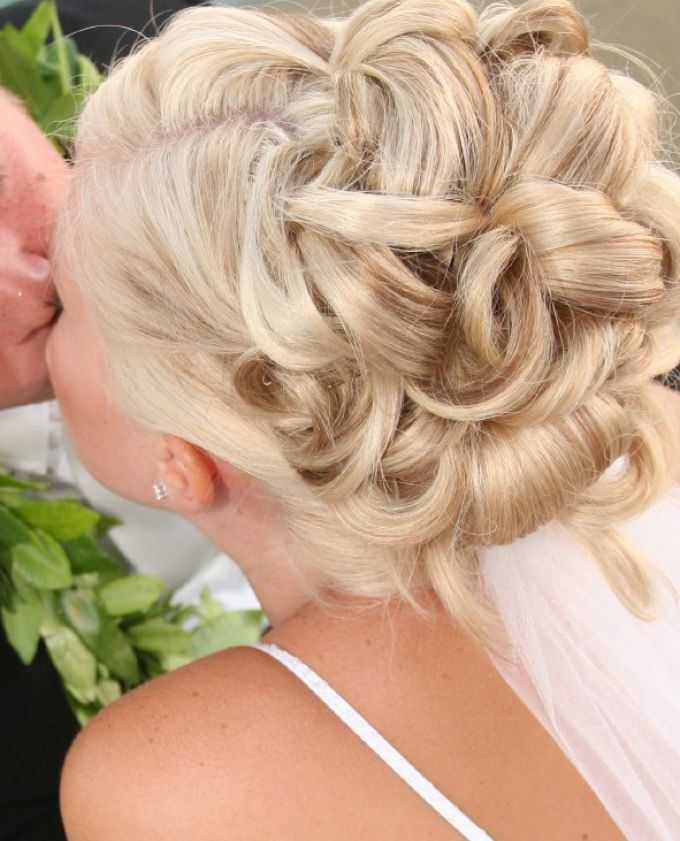 bridal hairstyles with fringe 3