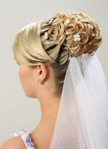 bridal hairstyles with fringe 4