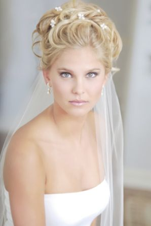 Wedding Hairstyles for a Tiara & Veil. Selecting a hairstyle for a wedding