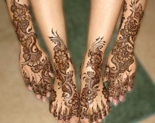 bridal mehndi designs for legs 1