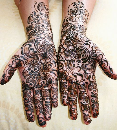bridal mehndi designs for wedding 4