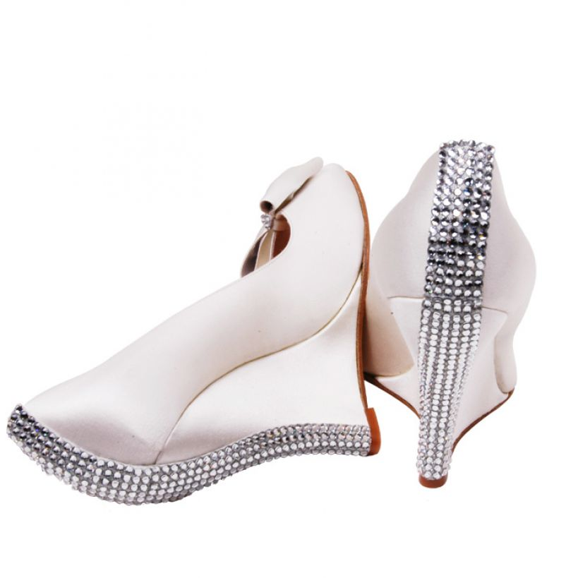 bridal shoes wedges 2