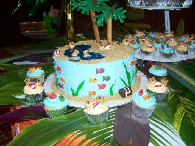 bridal shower cakes beach theme 1