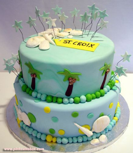 bridal shower cakes beach theme 4