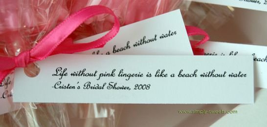 bridal shower favor sayings just b.CAUSE