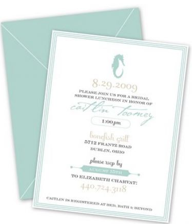 Bridal shower invitations beach theme pictures 4