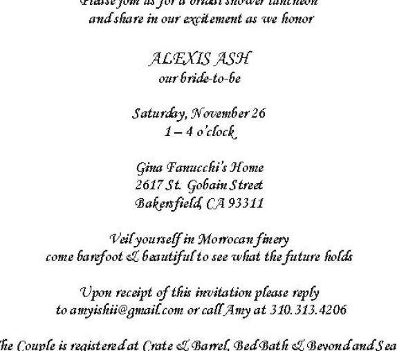 Bridal shower invitations samples pictures 4
