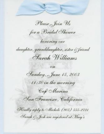 Bridal shower invitations wording samples pictures 1