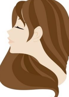 Cartoon girl with long brown hair pictures 2