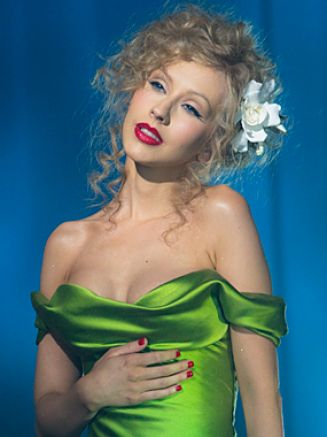 christina aguilera burlesque green dress scene. Scene and christina aguileras