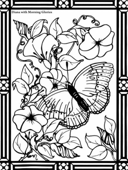 coloring pages of flowers and butterflies. Butterfly coloring pages
