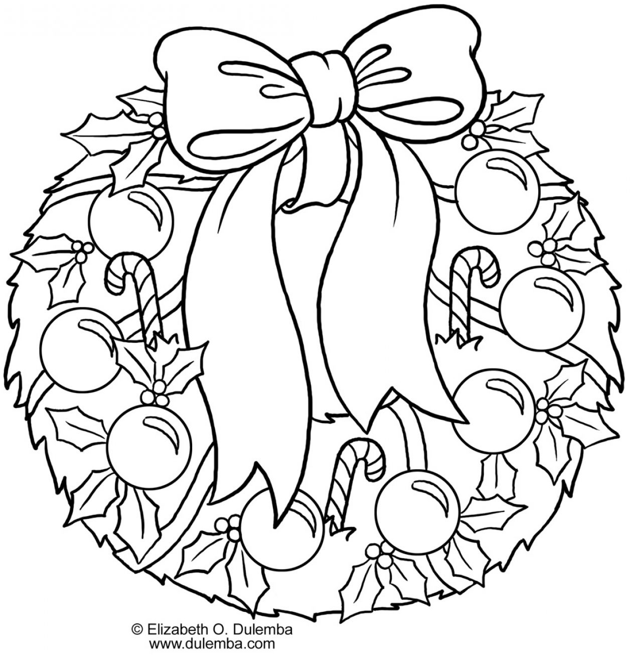 christmas coloring pages wreathes - photo#34