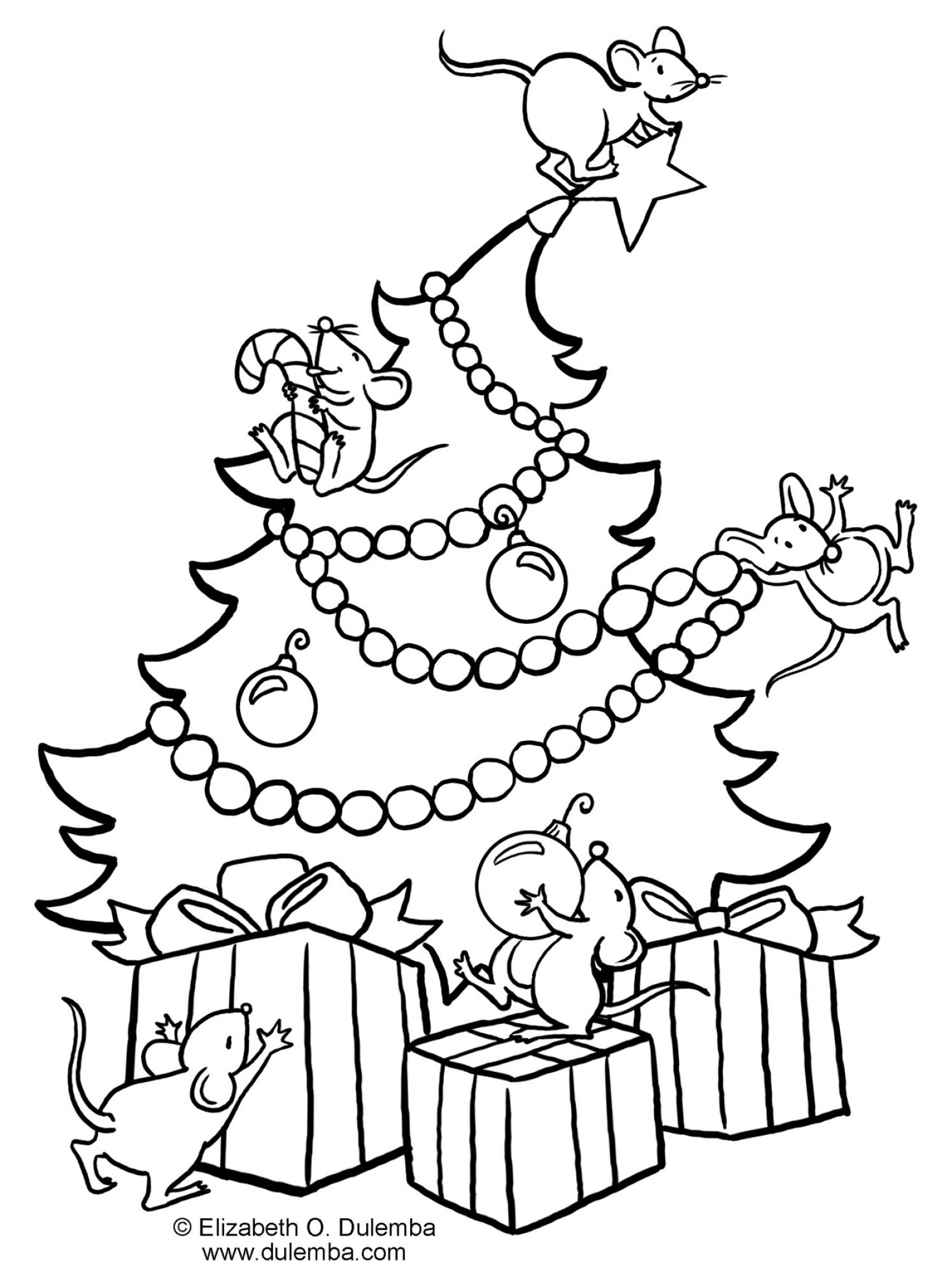 holiday themed coloring pages - photo #16
