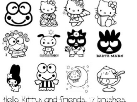 Hello Kitty And Friends Coloring Pages. Hello kitty coloring pages on