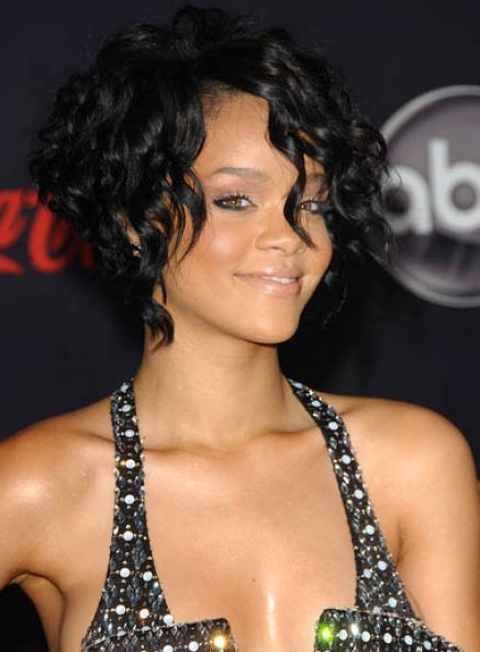 Curly hairstyles with bangs for short hair pictures 1