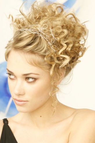 Curly updo for short hair pictures 3